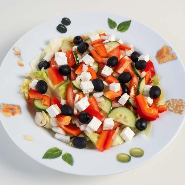 164 Salat Oliven, Schafskäse, Paprika